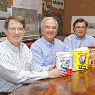 Thomas A. McRae of C.H. Guenther & Son Inc. and Bob Worth and Shawn Gulley of R.L. Worth & Associates Inc. have baked up a plan for the former Butterkrust building.