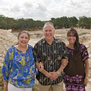 (L to R) Siblings Dr. Teresa Barrios Ogden, Louis Barrios and Diana Barrios Treviño at the site of their latest restaurant venture: Viola's Ventanas.