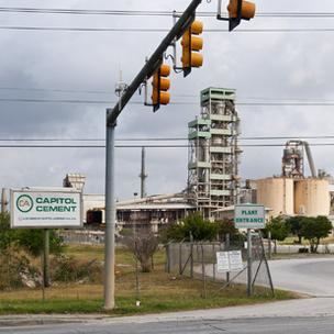 Capitol Aggregates' 110-employee cement plant in Northeast San Antonio will be the site of a $125 million project to recycle its air emissions into saleable products like bicarbonate soda.