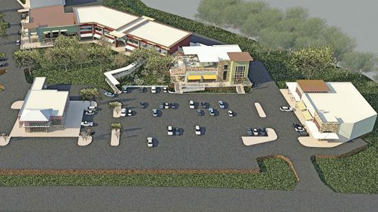 Rendering of Dominion Ridge, a new retail/office development by Cencor Realty Services.