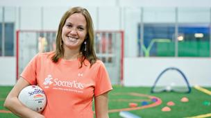 Andrea Duke, co-owner of Alamo TotSports, enjoys teaching young children fundamental sports skills in a non-competitive environment.