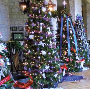 A sampling of the tress competing in the hotel's Festival of Trees event.