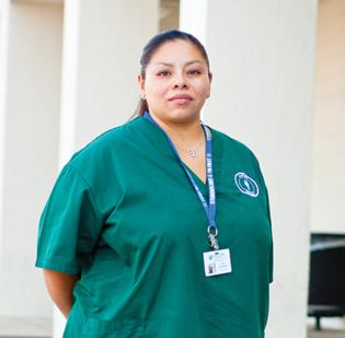 Veteran Julia Hernandez is using her GI benefits at Kaplan College, where she's studying to be a dental assistant.