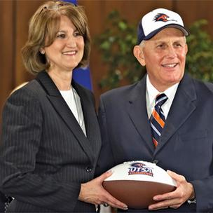 UTSA Athletic Director Lynn Hickey and Head Football Coach Larry Coker are building a legacy in San Antonio.