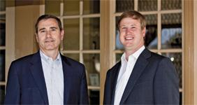 (L to R) Propel's Steve Johnson and Jack Nelson are projecting more growth for the company.