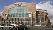 Lucas Oil Stadium in Indianapolis, designed by HKS. The stadium, built for the Indianapolis Colts, has been cited by Vikings owners as an example of what they envision for Minneapolis.