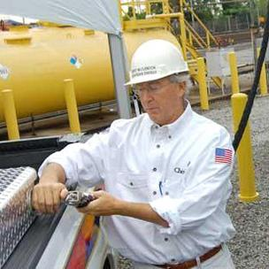 Chesapeake Energy CEO Aubrey McClendon during a visit to Pittsburgh in September 2011.