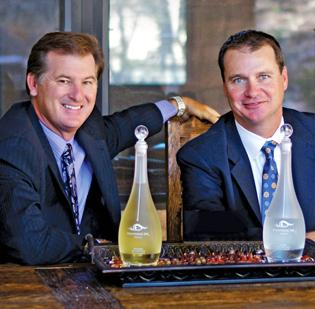 (L-R) Scott Lewis and Neal Scarborough say women will like their new tequila.