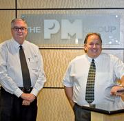 (L to R) Skip Wood of The Wood Agency and The PM Group's Bob Wills have inked a new joint operating agreement.