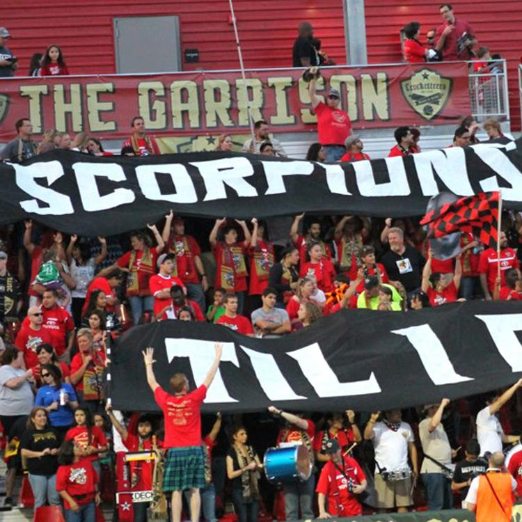 Crocketteers members hope San Antonio can impress Major League Soccer officials with strong support for the NASL Scorpions.