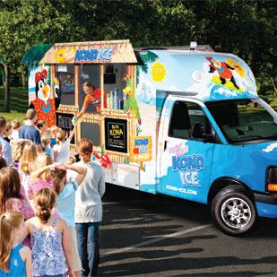 Juan Martinez invested $130,000 of his personal savings to purchase a Kona Ice franchise. His truck serves Northwest San Antonio.