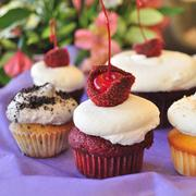 Customers often partake of their cupcakes right in the store, not delaying their consumption, Feild says.