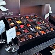 An assortment of handmade chocolates from Choicolate.