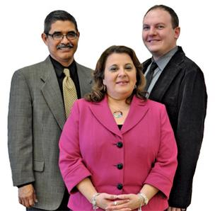 L-R: Noé C. Ortiz, Eyra A. Perez and Christopher Goldsberry