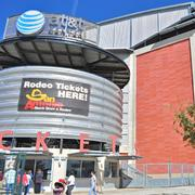 AT&T CENTER Opened: 2002 Cost: $175 million Seating Capacity: 18,581 Primary Tenants: San Antonio Spurs (NBA),  San Antonio Livestock Exposition Notable Sports Events:  NBA Finals (2003, 2005, 2007) Concerts/Shows 2012: 54 Total Events 2012: 171 Pros: Serves as a home for three pro sports franchises, including the Spurs, and also the annual San Antonio Stock Show & Rodeo Cons: Fewer bells and whistles than some comparable arenas and located in an economically challenged area Comparable Venues:TOYOTA CENTER / HOUSTON Opened: 2003 Cost: $235 million Seating Capacity: 18,300 Primary Tenant: Houston Rockets (NBA) Notable Sports Events: NBA All-Star Game (2006, 2013)   AMERICAN AIRLINES CENTER / DALLAS Opened: 2001 Cost: $412 million Seating Capacity: 19,200 Primary Tenants: Dallas Mavericks (NBA), Dallas Stars (NHL) Notable Sports Events: NBA Finals (2006, 2011); NBA All-Star Weekend (2010); NHL All-Star Game (2007)