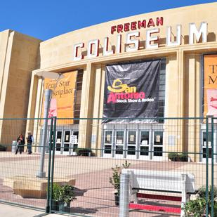 File photo of the Freeman Coliseum. Spurs Sports & Entertainment has pushed up the concert date for Pat Benatar to 6 p.m. so that fans could watch Game 6 of the Spurs-Heat match-up on television.