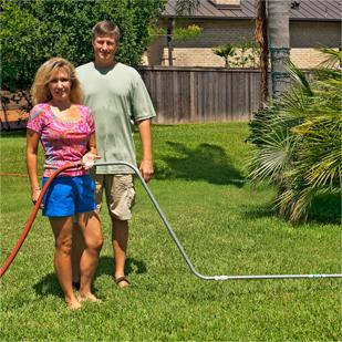 Grant and Rosanne Pitzer have built a business around the Hover Sprinkler, invented by Grant under his carport.