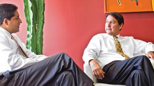 (L to R) Richard Munoz, Account executive, Wittigs Office Interiors and David Smedley, Principal, Wittigs Office Interiors