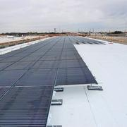(Below) Millions of dollars worth of solar panels at St. Philip's Southwest Campus still work, but no longer have a warranty now that manufacturer Solyndra filed bankruptcy.