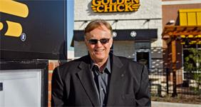 Allen Tharp, at his new Golden Chick eatery in Helotes, is looking to spice things up in San Antonio's restaurant game.