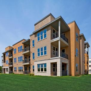 Pictured: Views of The Landings at Brooks City-Base, a new residential project set to open later this year on the city's South Side.