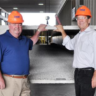 (L to R) Brady Hester and Phillip J. Iverson of Tindall Corp. are helping to build a strong foundation for growth.