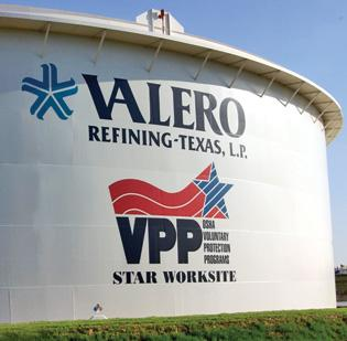Valero Energy Corp.'s refinery in Texas City. A Galveston County jury ruled in favor of Valero that the company's refinery was overvalued by the Galveston Central Appraisal District.