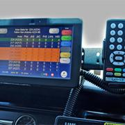 Each Yellow Cab is now equipped with a color monitor that is connected to a voice-activated GPS navigation and dispatching system.