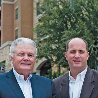 (L to R) Walter and Trey Embrey say their firm, like the city it calls home, is headed for some exciting times.