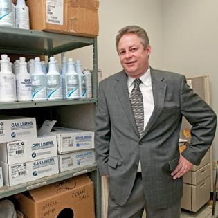 Robert Sparrow, president of 1st Call Cleaning Services, says he is looking to expand into the residential market now that the economy is improving.