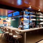 The bar inside The Monterey. Design build services by Wiese Hefty Design Build, now known as DADO group.