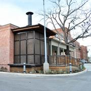 "Another exterior view of the Granary 'Cue & Brew. The building is owned by Silver Ventures, owner of the Pearl, and leased to the Rattray brothers. ""We love projects like this because it becomes part of the community, and we make new friends. It's the gift that keeps on giving,"" says Clay Hefty."