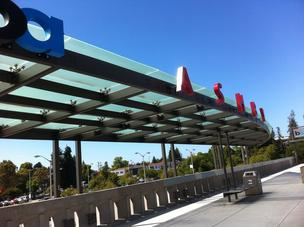 BART's spruced up Ashby Station in Berkeley. The transit organization is improving wireless service in trains.