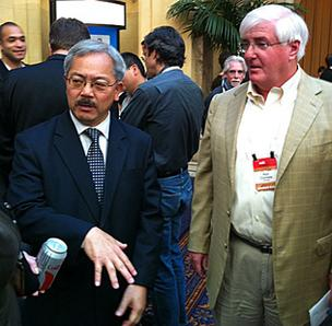 Mayor Ed Lee and tech investor Ron Conway.