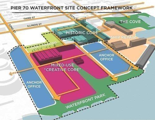 Pier 70 San Francisco Map Forest City unveils Pier 70 plan   San Francisco Business Times Pier 70 San Francisco Map