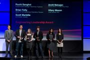 Some of the honored TechFellows on stage at SFMOMA accepting their awards.