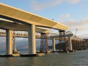 Various views of the new east span of the Bay Bridge, currently under construction.