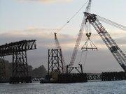 The Bay Bridge carries 280,000 cars per day, twice that of New York's famous Brooklyn Bridge.