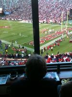 Who Dat in the 49ers box?