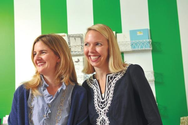 Kathy Swindle (left) and Misty Meyer have offered one group buying deal at Soirée San Francisco, their Presidio Heights stationery store.