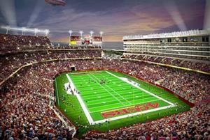 A rendering of the Niners' new proposed stadium in Santa Clara.