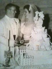 Mom and Dad at their wedding reception.
