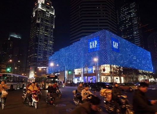 A Gap store in Shanghai. The San Francisco-based specialty retailer plans to open over 35 more Gap stores in China over the next 14 months.