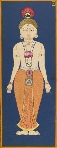 The Chakras of the Subtle BodyFolio 4 from the Siddha Siddhanta Paddhati By Bulaki India, Rajasthan, Jodhpur, dated 1824.