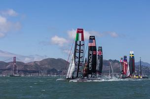 America's Cup practice races last year in San Francisco.