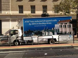AT&T is not being shy about saying service in San Francisco is not as hurting as it was.
