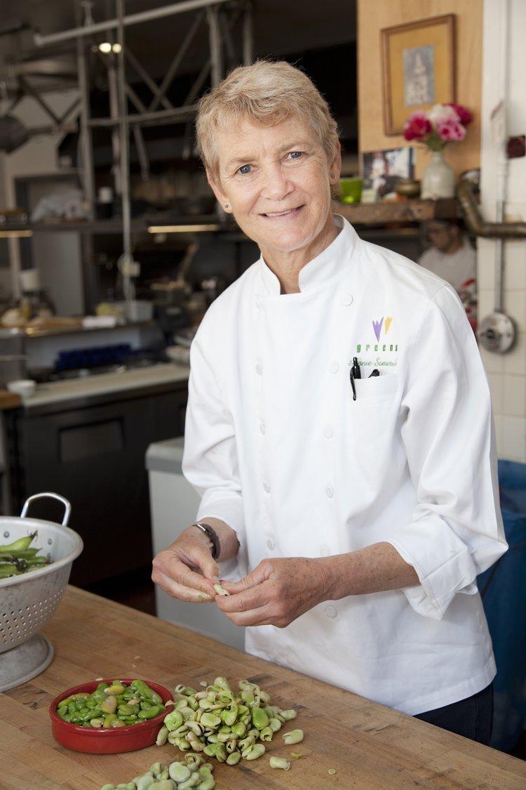 Annie Somerville of Greens Restaurant.