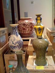 "These ""ceramic"" vases are actually made out of soap. They offer a contemporary slant on an exhibit of centuries-old Korean vases."