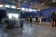 The flooring, windows and tables can all be added to transform the event space at Pier 48.