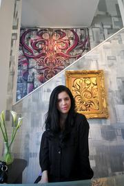 Daniele Rocha, co-owner of the Ian Ross Gallery and Ross' wife.